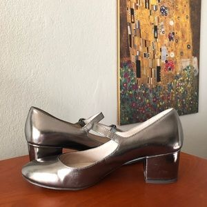 Louise et Cie Mary Jane Block Heels in silver